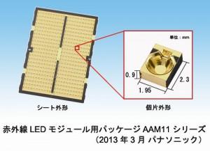 パナソニック、赤外線LEDモジュール用パッケージを製品化
