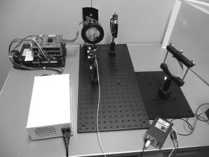 研究・開発中のホログラフィ・プロジェクションシステム