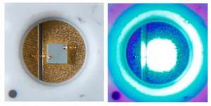 開発した低温焼成銀ナノ粒子接合材料を用いたLEDパッケージ
