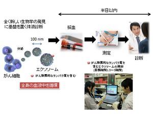 国立がん研究センターら,従来の約1/40の血液量で半日以内に診断可能な大腸がんの検査法を開発