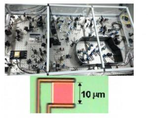 広帯域スクィーズド光源(上),超伝導転移端センサ(下)
