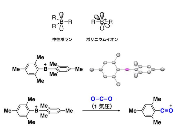 東工大ら,芳香環のみが置換した結合の手が2本しかないホウ素化合物の単離に成功