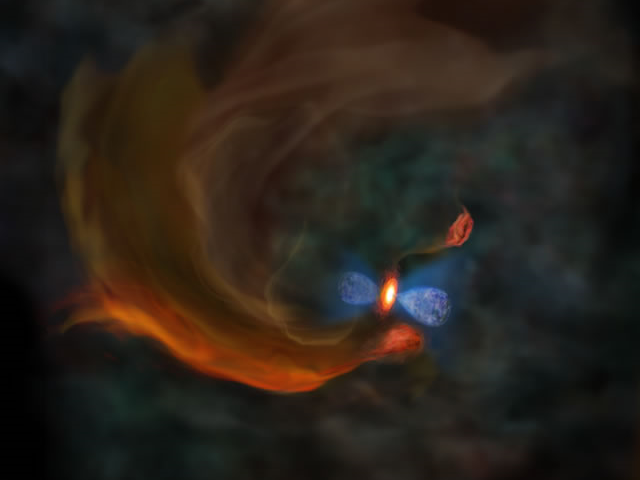 国立天文台,星の卵となるガス塊がダイナミックに運動していることを発見