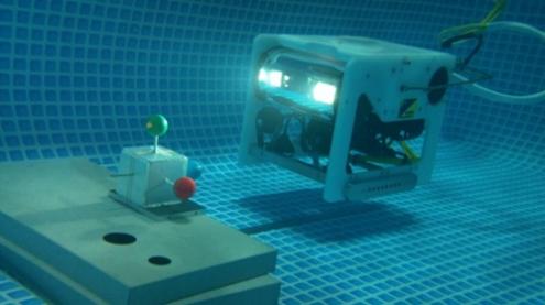 岡山大ら,自律制御型水中ロボットを開発