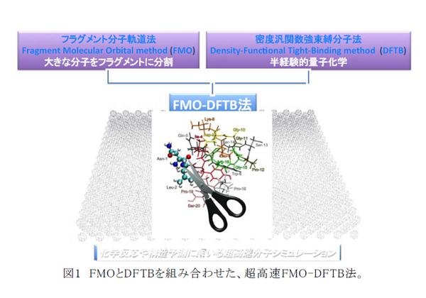 名大ら,1万原子以上を持つ複雑系分子の超高速シミュレーションを開発