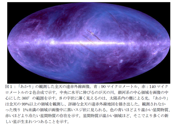 東大ら,赤外線天文衛星「あかり」の詳細な遠赤外線全天画像データを公開