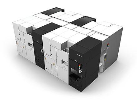 キヤノン,4台をクラスター化した半導体製造用ナノインプリント装置を2016年にも量産へ