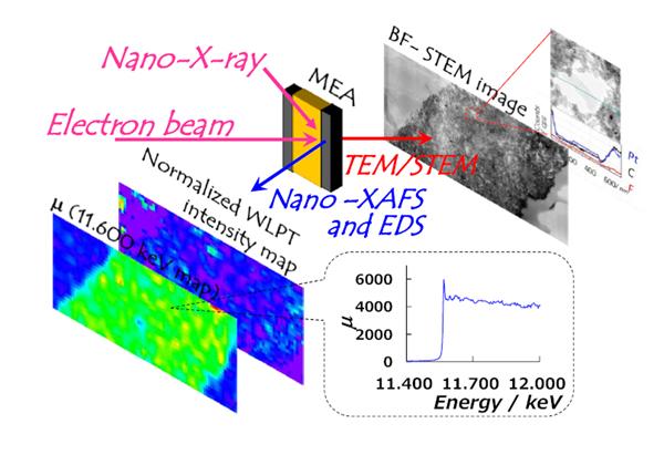 電通大,燃料電池触媒の化学状態/物理状態をイメージング