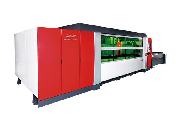 三菱電機,4kWファイバ二次元レーザ加工機を発表