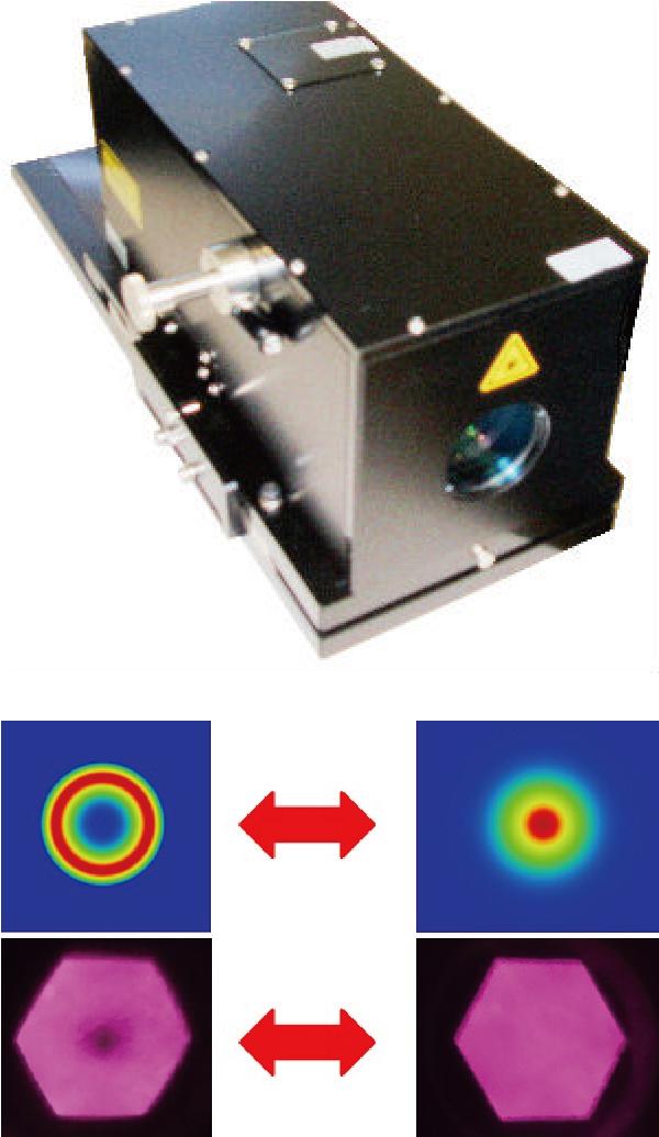 リングモード光学系(上)と,リングモードとノーマルモードの切り替えも容易(下)