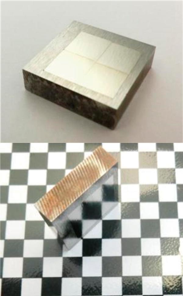 写真1 鋼材の表面粗さは0.08μmRaを達成。加工部の鏡面に近い表面性状が得られている。
