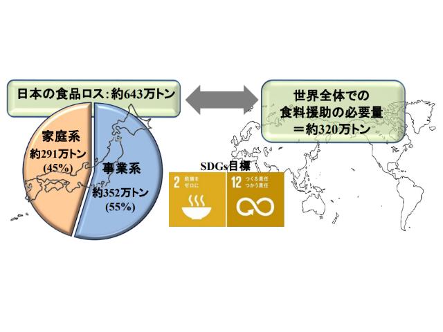 図1 日本の食品ロス状況と世界の食料援助の必要量