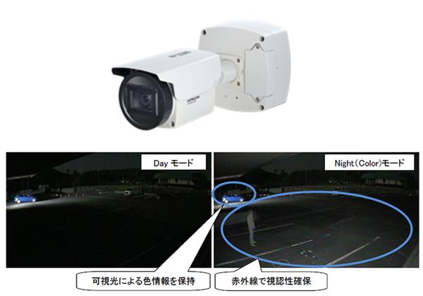 日立,可視光カラー/赤外線白黒映像を重畳するカメラを発売