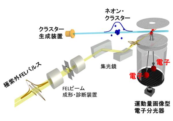 東北大ら,極紫外光パルスで電子の数珠つなぎ現象を発見