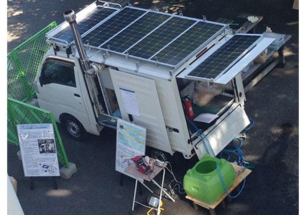 芝浦工大,太陽電池+スターリングエンジン電源車を開発