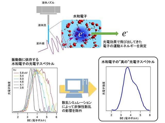 京大,レーザーで水中の安定化した電子エネルギーを決定