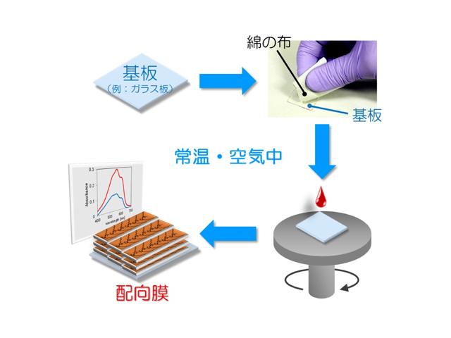 広島大ら,導電性高分子の配向膜を簡単に作製