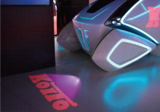 レーザーヘッドランプによるディスプレイ表示のイメージ