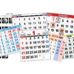 暦(カレンダー)の画像