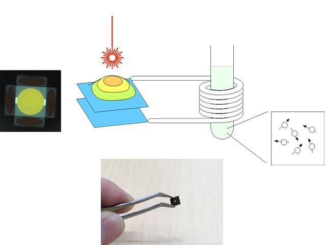 京大ら,NMR信号を光変換により高感度で検出