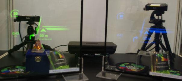 【OPIE'18】マイクロビジョン,レーザープロジェクターの応用を提案
