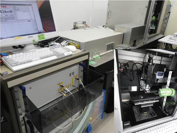 写真2 レーザーによる鋼材の平滑化研究で用いられた実験機