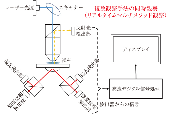 リアルタイムマルチメソッド観察を実現する非結像検出光学系 出典:アストロデザイン