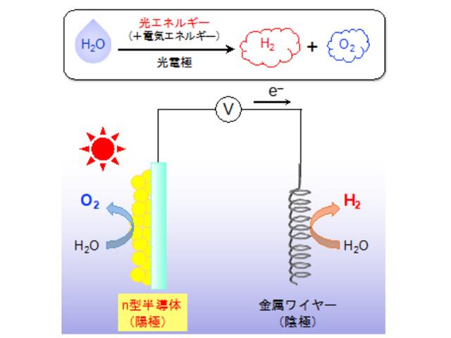 東工大,太陽光で働く水分解光電極を開発