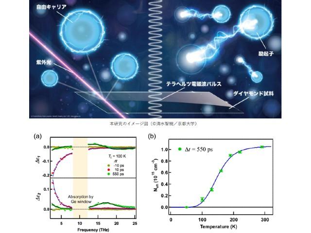 京大,ダイヤのキャリア−励起子間の平衡定数測定